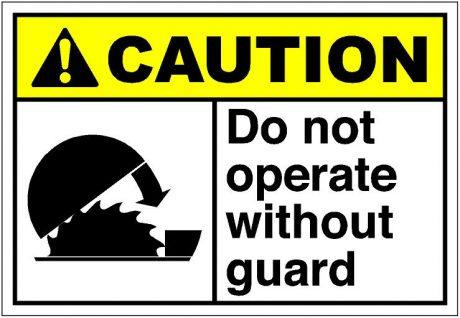 machine guarding sign