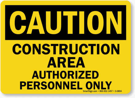 construction worksite safety sign