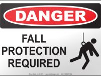 fall protection signage