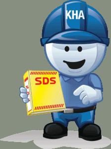 safety steve holding SDS binder